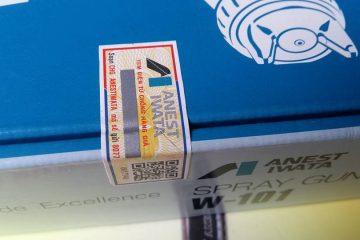 Cách phân biệt súng phun sơn Anest Iwata bằng tem chống hàng giả
